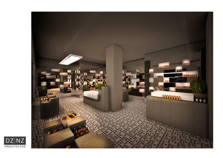 Interior 1: Oficinas y locales comerciales de estilo  por DZ NZ Arquitectos,