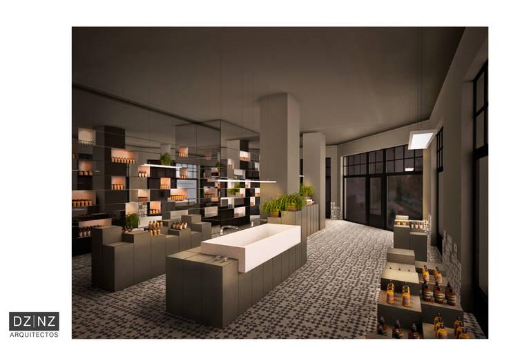 Interior 2: Oficinas y locales comerciales de estilo  por DZ NZ Arquitectos,