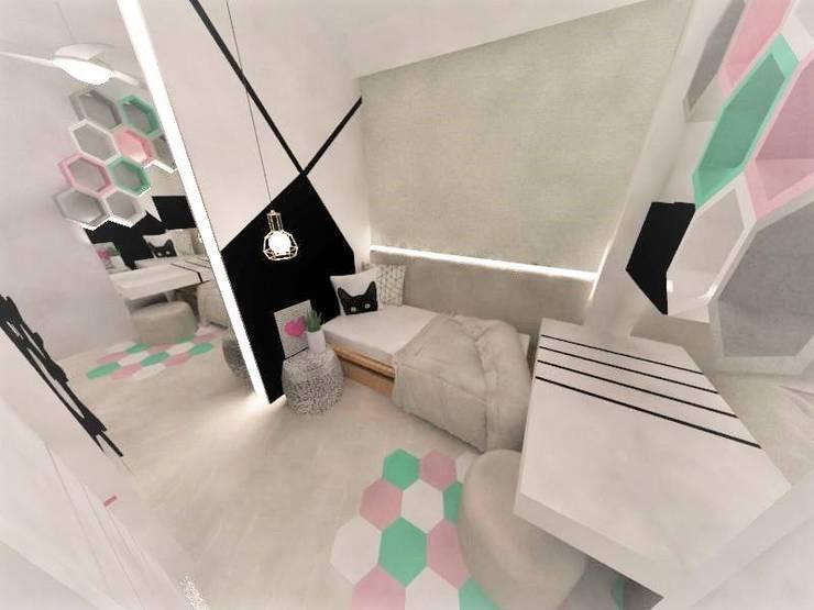 Quarto pré-adolescente: Quarto infantil  por Duna Arquitetura,Moderno Derivados de madeira Transparente
