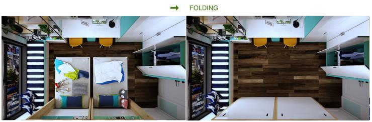 Phòng ngủ 2 cháu bé sinh đôi với giường gấp:  Bathroom by Công ty TNHH Thiết Kế và Ứng Dụng QBEST