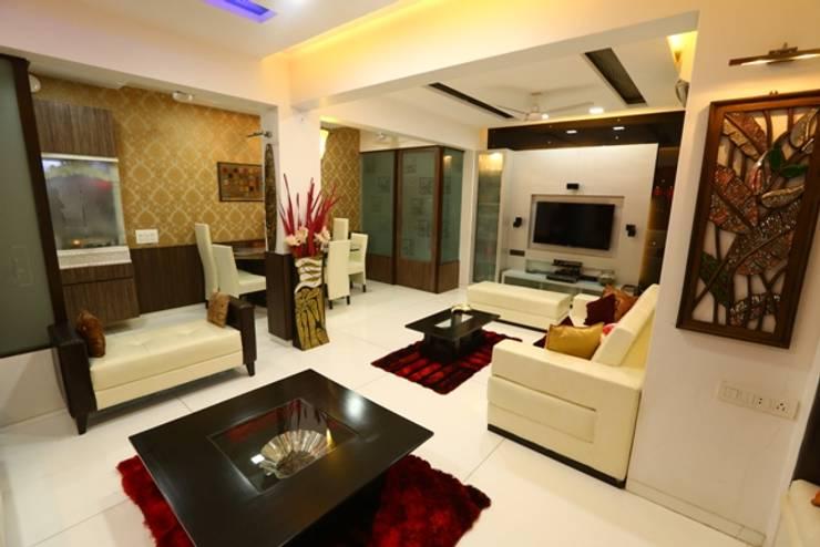 Basant Park—Chembur:  Living room by Aesthetica,Modern