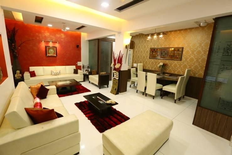 Basant Park - Chembur: modern Living room by Aesthetica