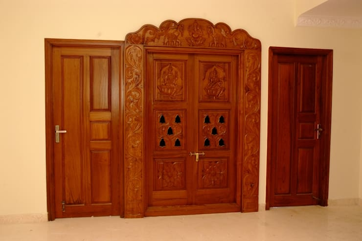 Door designs: asian Living room by Scale Inch Pvt. Ltd.