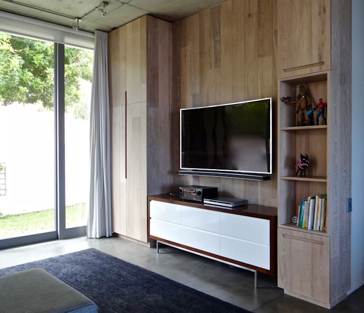 TV Room - After: modern  by Turquoise , Modern