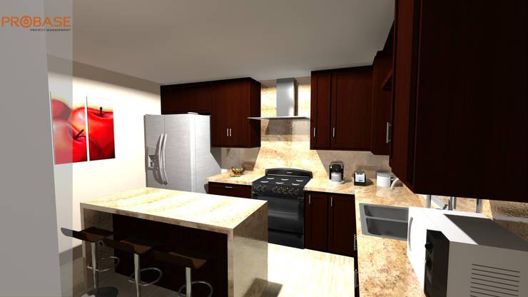 Vista de cocina 2: Cocinas de estilo moderno por Probase Project Management