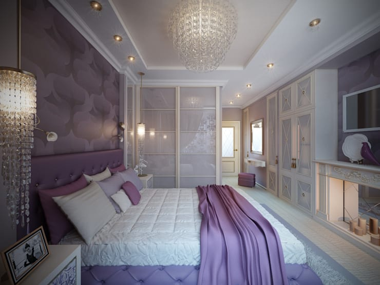 غرفة نوم تنفيذ Дизайнер Светлана Юркова