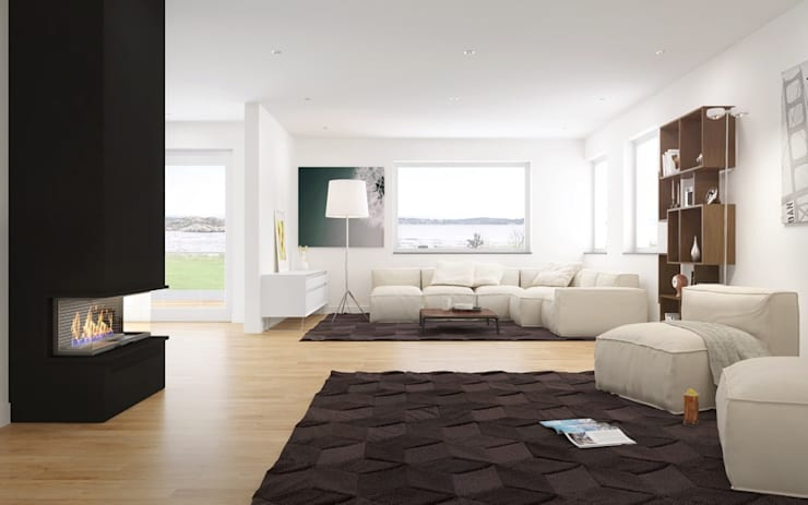 3D Architectural Rendering Pred Solutions:  Living room by Pred Solutions
