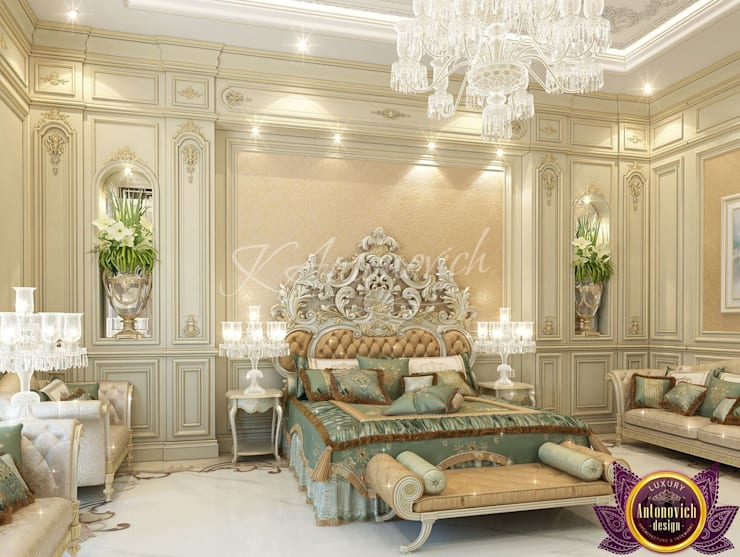 ​Beautiful interiors of Katrina Antonovich:  Bedroom by Luxury Antonovich Design,