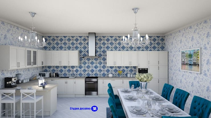 Kitchen in classic style:  Kitchen by 'Design studio S-8'