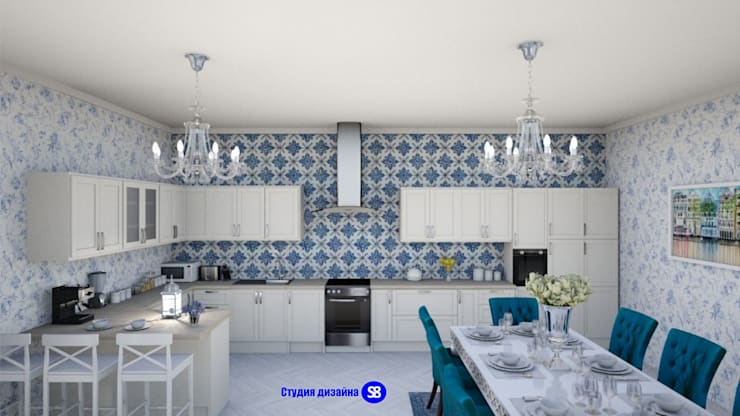 Kitchen in classic style: classic Kitchen by 'Design studio S-8'