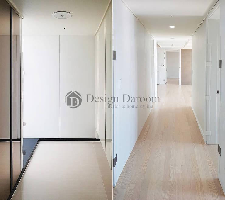 미사 푸르지오 아파트 현관 복도: Design Daroom 디자인다룸의  복도 & 현관