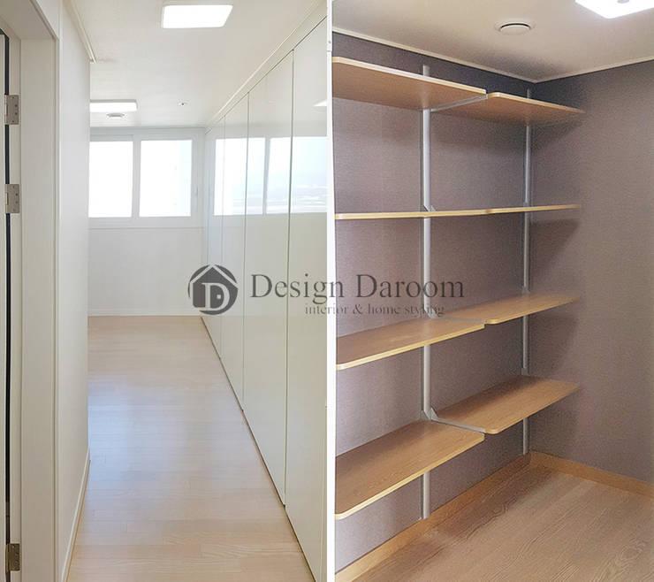 미사 푸르지오 아파트 침실: Design Daroom 디자인다룸의  드레스 룸