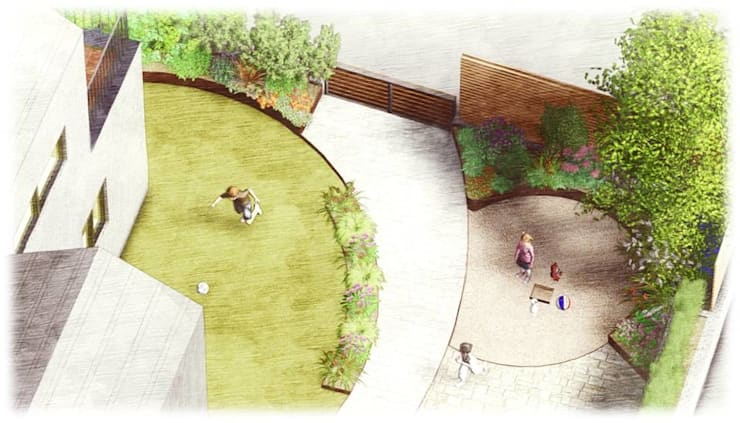 가드닝 프로젝트 - 2016. 은평 한옥마을 K씨 주택: 가든디자인 뜰(garden design 뜰)의  정원