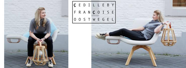Lounge Chair Fyrsta:  Woonkamer door Çedille by Françoise Oostwegel