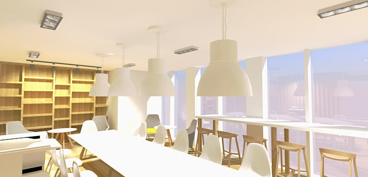 Regus Office & Co-Working Space Renovation:  อาคารสำนักงาน by Aim Ztudio