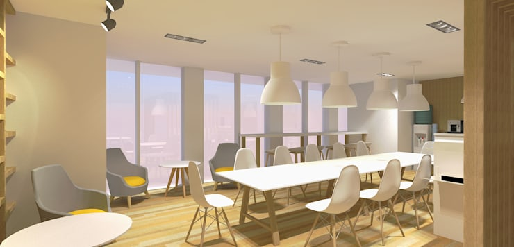 Regus Office & Co-Working Space Renovation:  อาคารสำนักงาน by Aim Ztudio