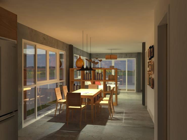 Sukhumvit 50 Residence:  ห้องทานข้าว by Aim Ztudio