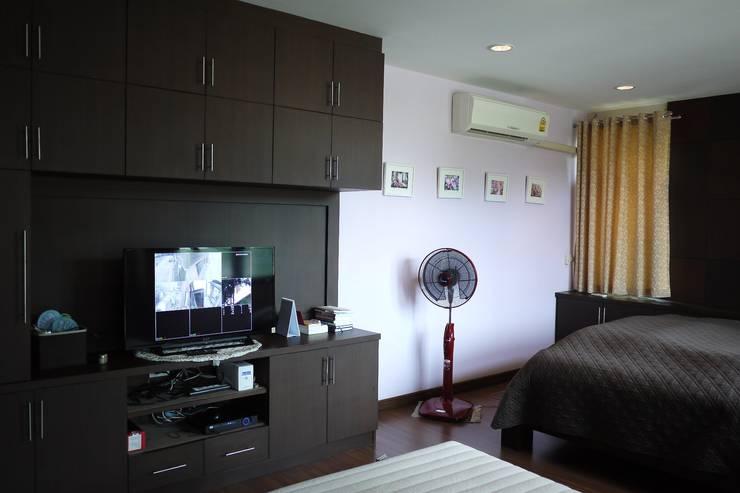 Taling-Chan Residence:  ห้องนอน by Aim Ztudio