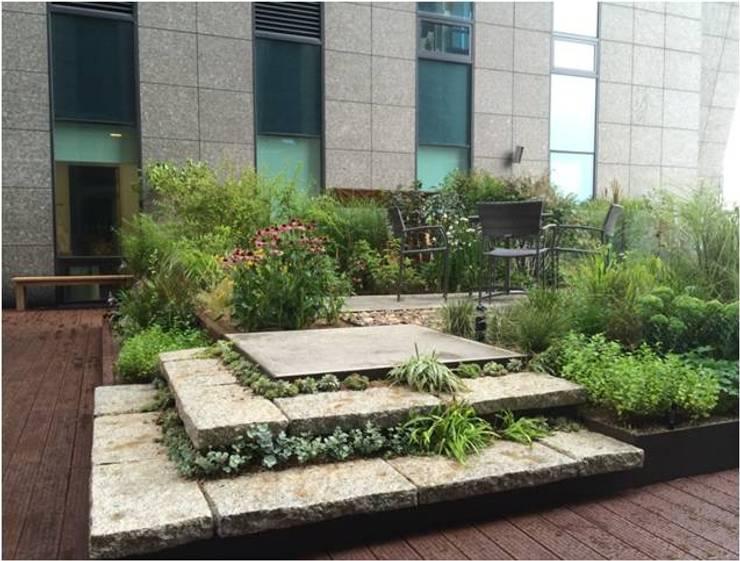 가드닝 프로젝트 - 2014. 아모레퍼시픽  본사옥상정원: 가든디자인 뜰(garden design 뜰)의  정원