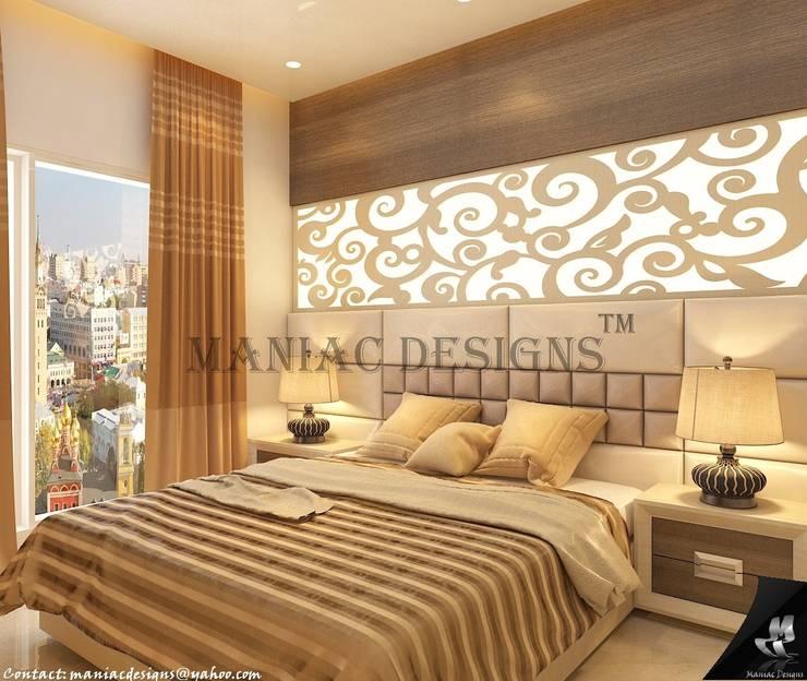 Bedroom Interior project:  Bedroom by Maniac Designs,Modern