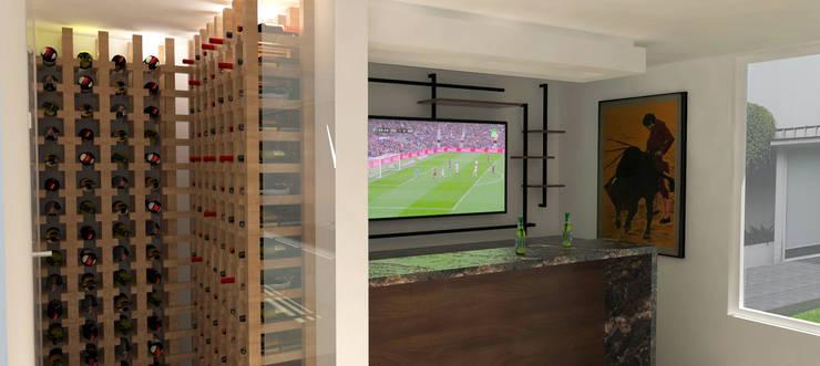 Bar VH39: minimalistic Wine cellar by Hall Arquitectos