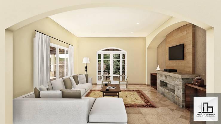 Sala de estar: Salas de estilo  por IAD Arqutiectura