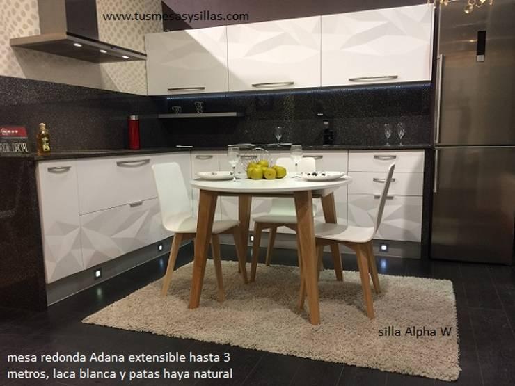 Mesa redonda extensible Adana de Tusmesasysillas.com | homify