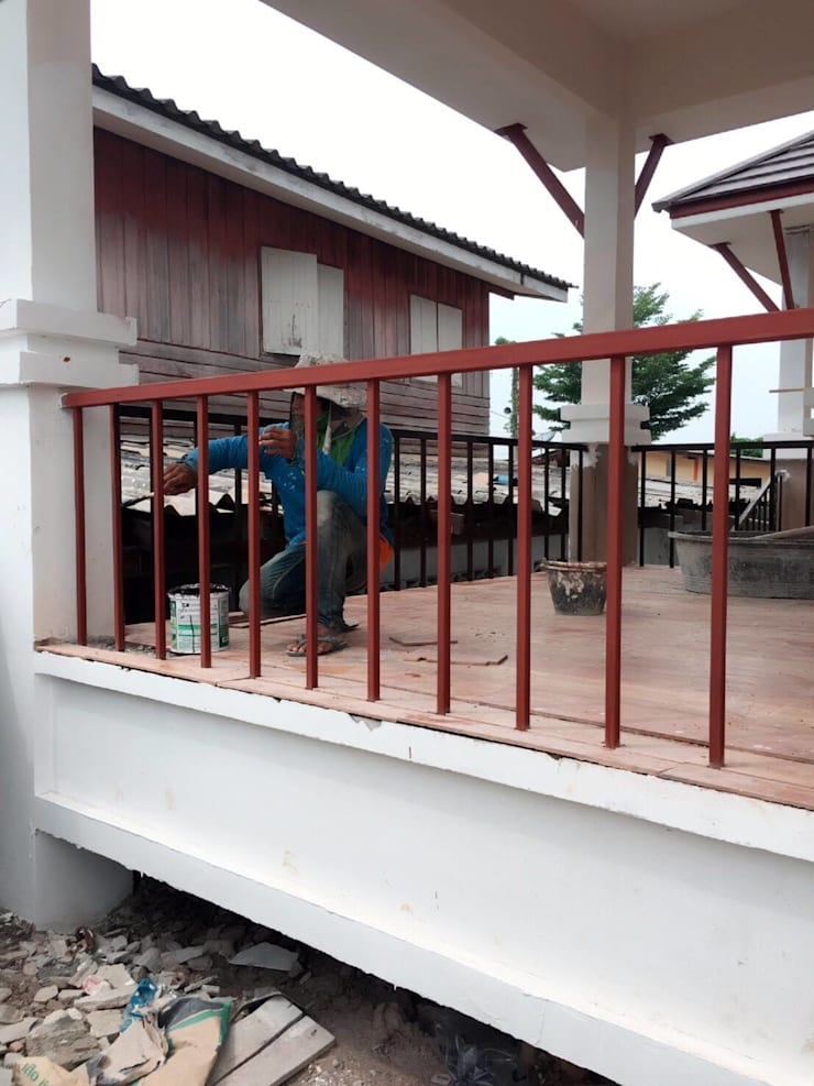 บ้านชั้นเดียวรีสอร์ทยกพื้น ทรงไทยประยุกต์(BP10):   by WANIT i-design