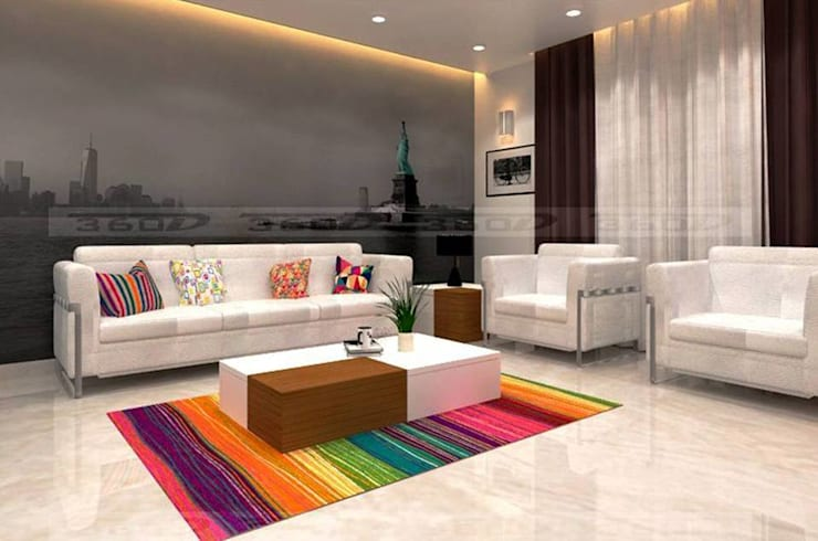 Unity Paradise: classic Living room by OUTLINE STUDIO