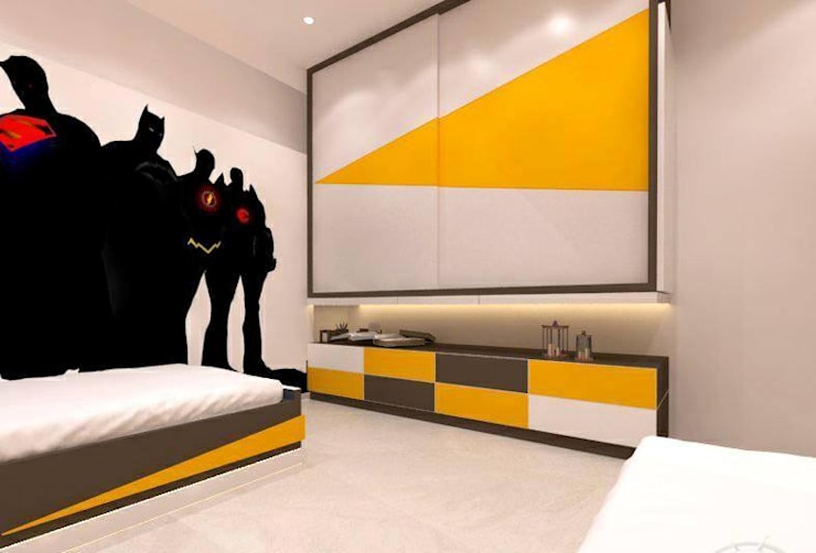 Unity Paradise: classic Bedroom by OUTLINE STUDIO