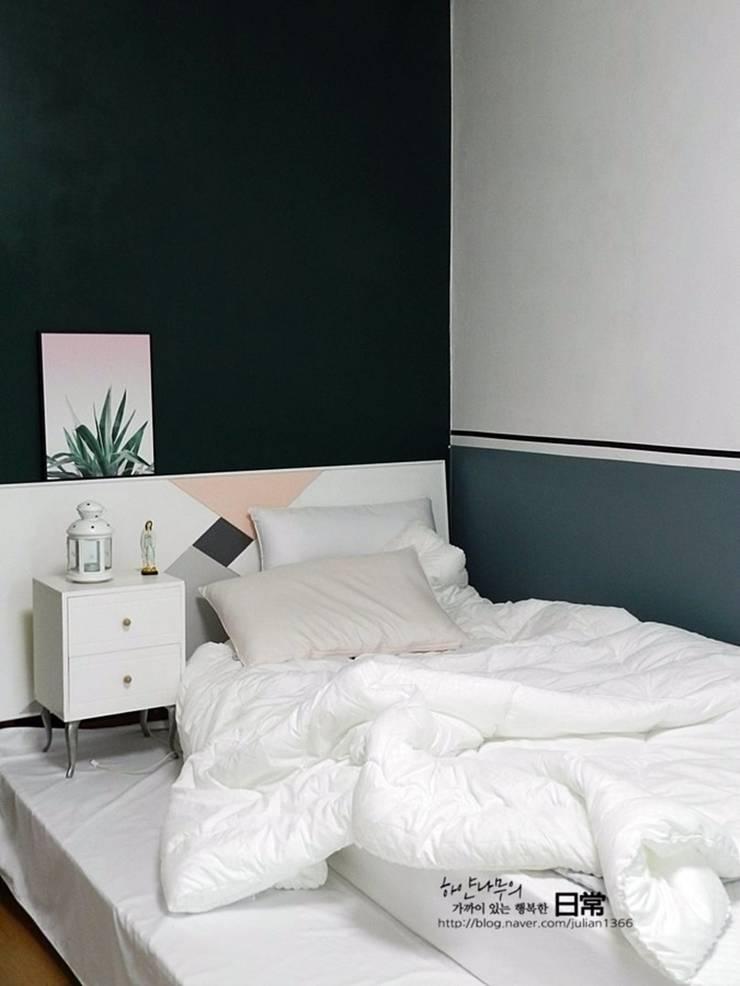 부부 침실 after: 하얀나무의  침실