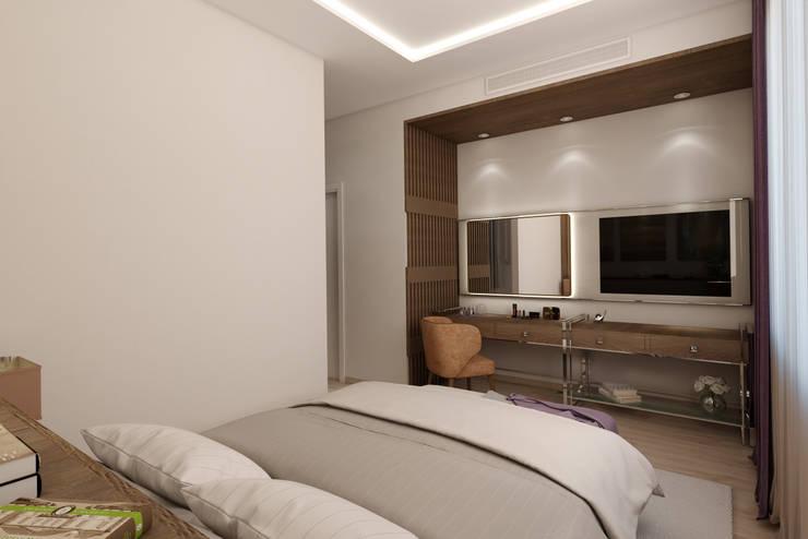 EZGİ AYDOGDU İçmimarlık Danışmanlık ve İnşaat Hiz. – Yalova_Villa_Yatak Odası-2:  tarz Yatak Odası