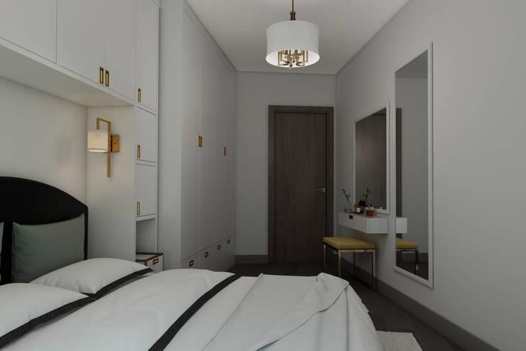 EZGİ AYDOGDU İçmimarlık Danışmanlık ve İnşaat Hiz. – Nef03_Konut : modern tarz Yatak Odası