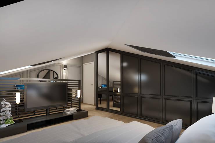 EZGİ AYDOGDU İçmimarlık Danışmanlık ve İnşaat Hiz. – Kadıköy_Konut: modern tarz Yatak Odası