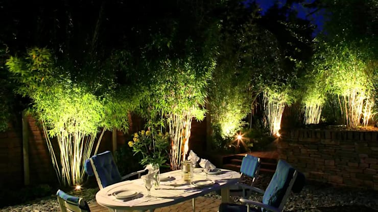 Attractive Garden Lighting:   by Landscaping Pretoria