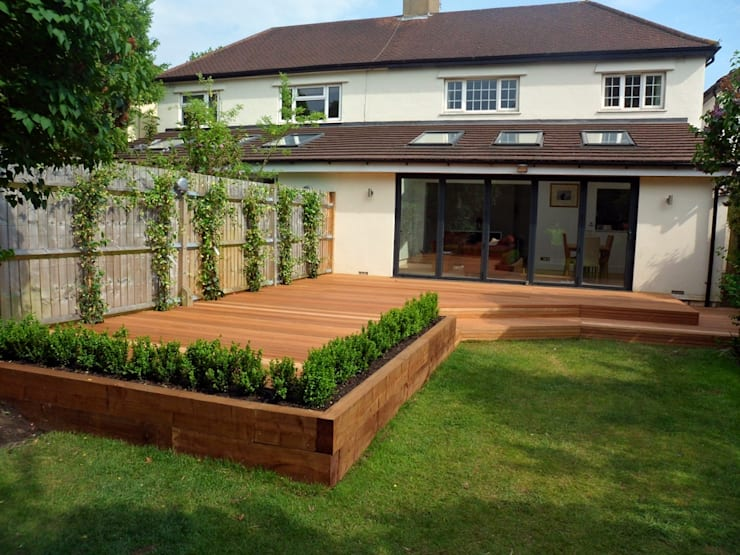 Wooden Decking:   by Landscaping Pretoria