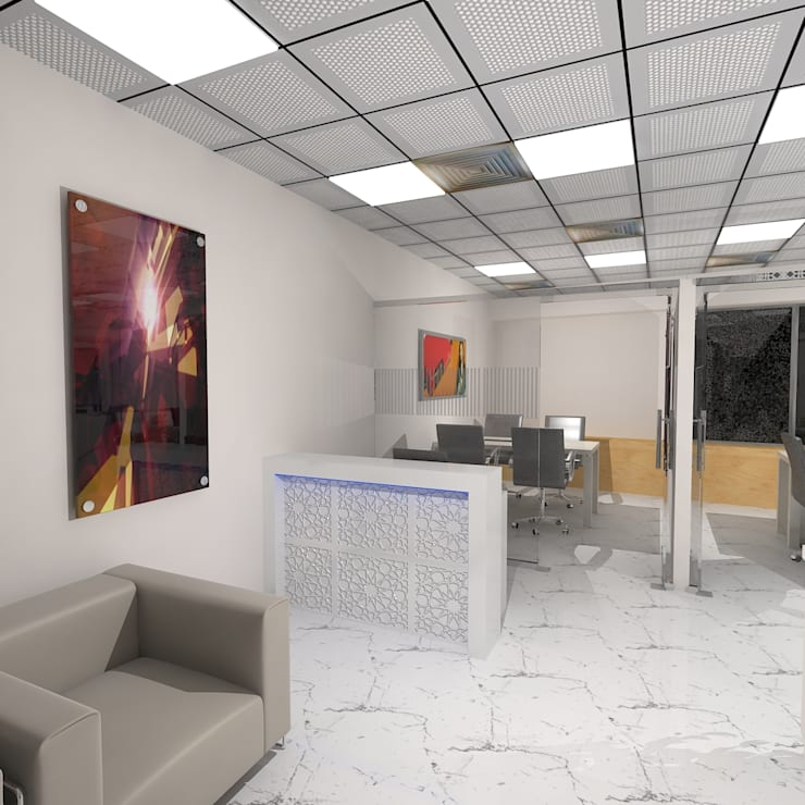 Office for Raj:  Offices & stores by Gurooji Designs