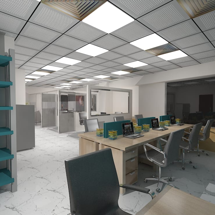 Office for Raj:  Offices & stores by Gurooji Design