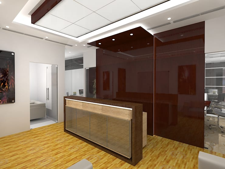 Real estate office:  Offices & stores by Gurooji Designs,Modern