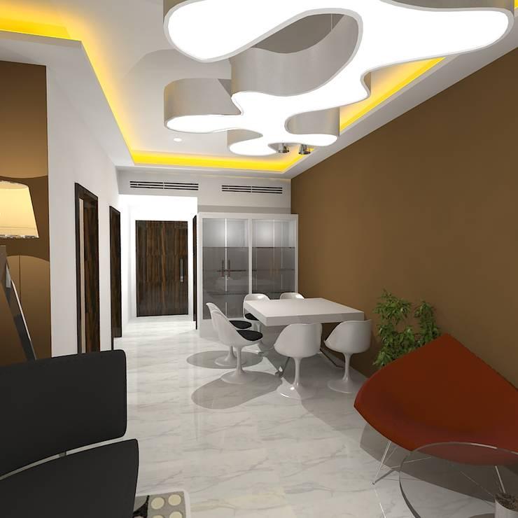 Palacio 1BHK :  Dining room by Gurooji Designs