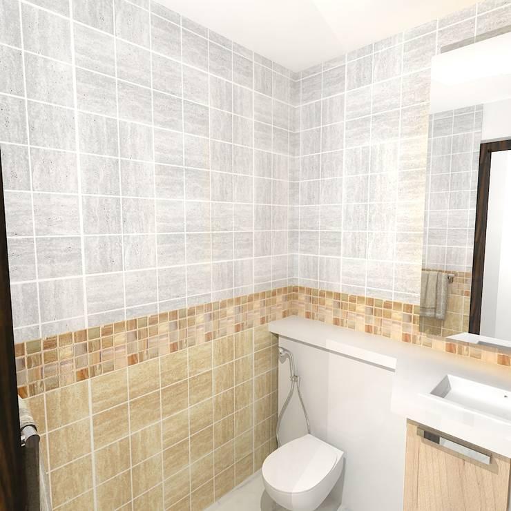Palacio 1BHK :  Bathroom by Gurooji Designs