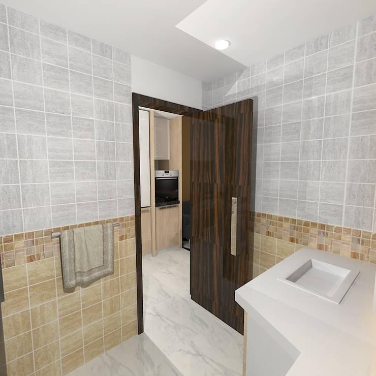 Palacio Studio Apartment :  Bathroom by Gurooji Design