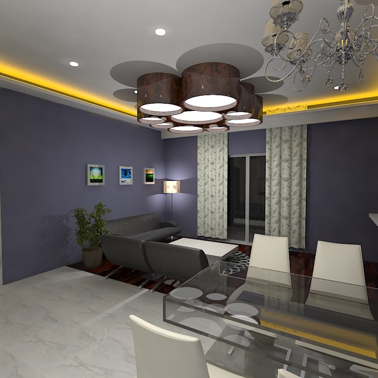 Palacio 2BHK:  Dining room by Gurooji Design
