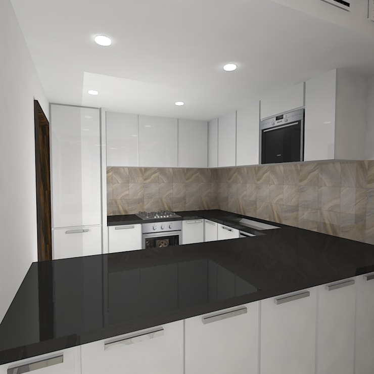 Palacio 2BHK:  Kitchen by Gurooji Design