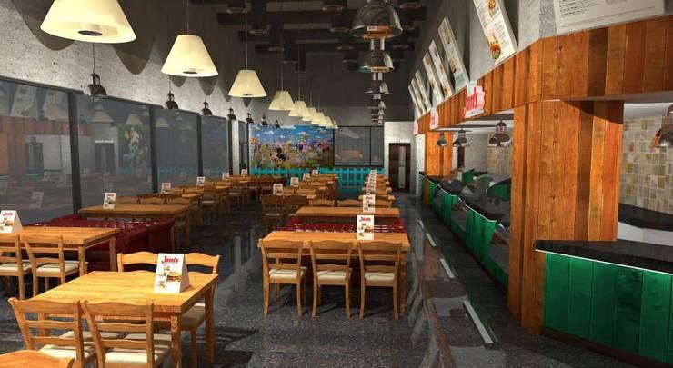 Restaurant Design:  Hotels by Gurooji Designs