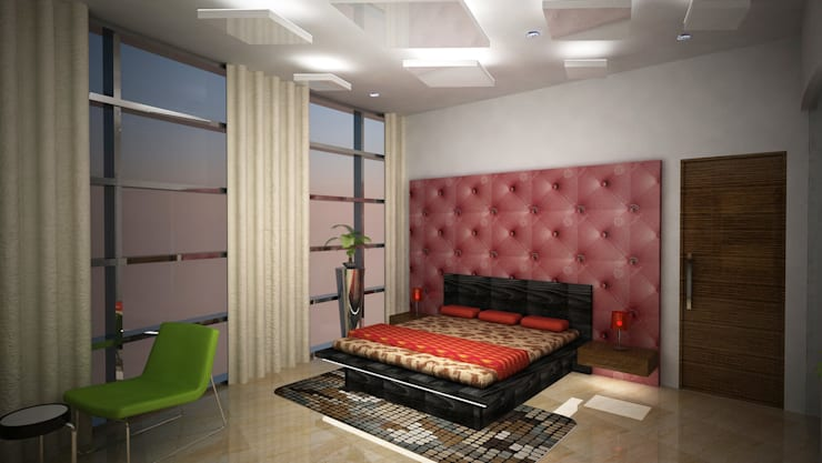 Laurel Interiors:  Bedroom by Gurooji Designs,Modern