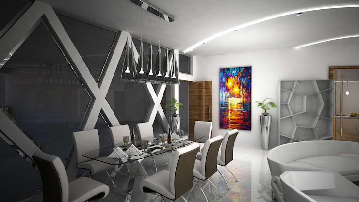 Laurel Interiors:  Dining room by Gurooji Designs,Modern