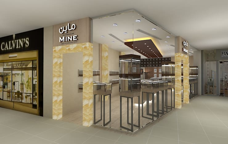 Mine Jewelry store :  Commercial Spaces by Gurooji Designs