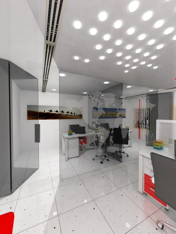 UII Office:  Offices & stores by Gurooji Design