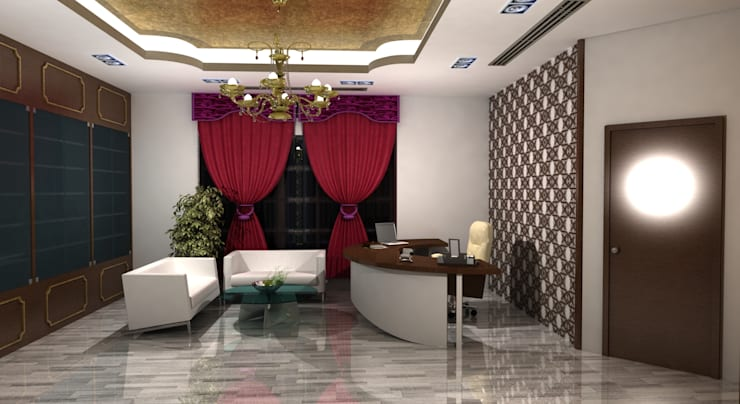 غرفة المعيشة تنفيذ Rapchik Designs